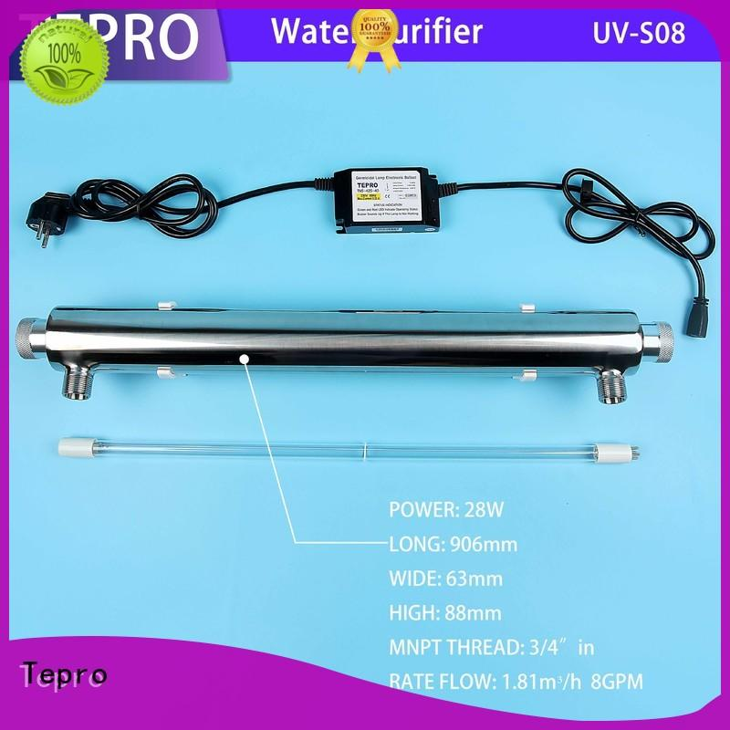Tepro ro uv water purifier supplier for pools
