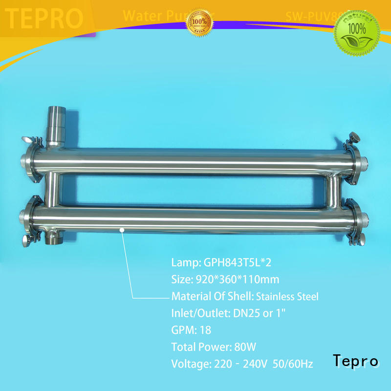 Tepro best uv water purifier supply for hospital