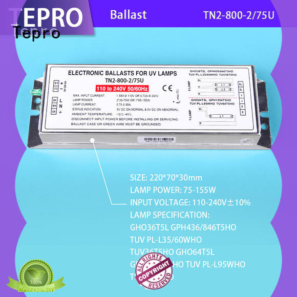 Tepro fluorescent ballast brand for laboratory