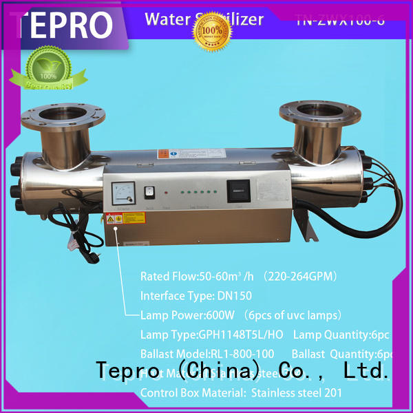 6gpm uv light disinfection supplier for pools Tepro