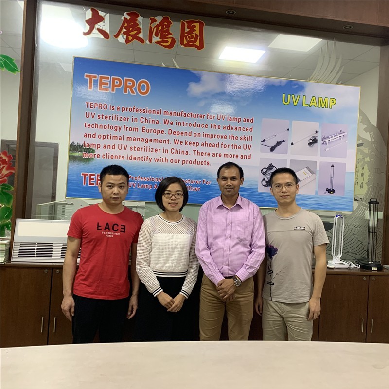 Tepro-Uv Light At Home-bangladesh Guest Visiting Our Company