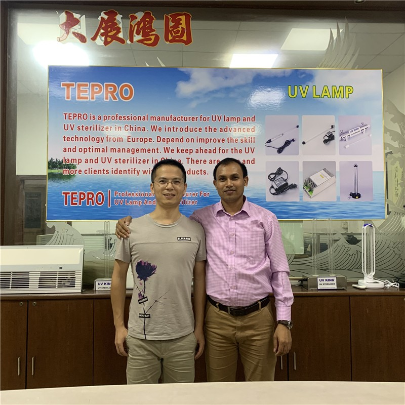 Tepro-Uv Light At Home-bangladesh Guest Visiting Our Company-1