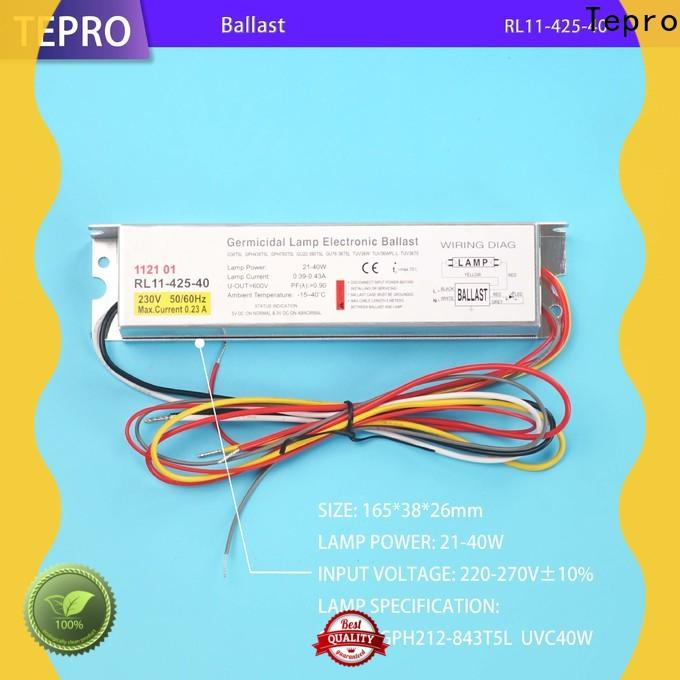 Tepro digital ultraviolet light ballast suppliers for factory