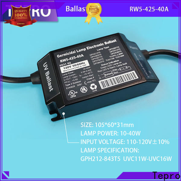 Tepro Top electronic ballast for uv lamp suppliers for fish tank