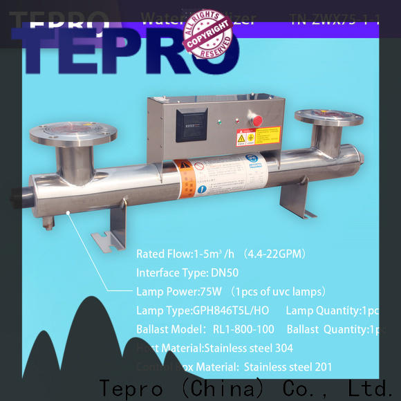 Tepro Top uv sterilizer green water manufacturers for hospital